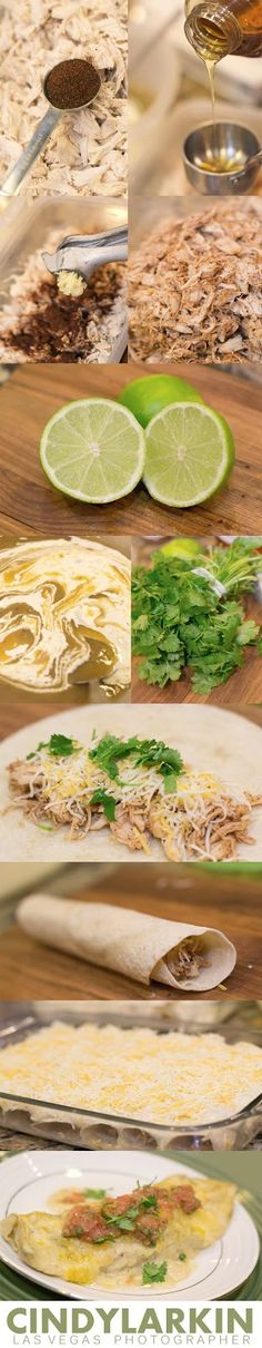 {Lick-the Pan} Honey Lime Chicken Enchiladas. I Lisa Vick make these all the time and they are Amazing!!!
