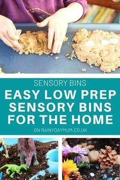 Simple and easy these low prep sensory bins are great for independent play for your toddlers and preschoolers. Free from food they are perfect to set up and let y our tots explore and enjoy. Preschool Learning Activities, Play Based Learning, Indoor Activities For Kids, Sensory Activities, Toddler Preschool, Toddler Crafts, Toddler Activities, Sensory Tubs, Sensory Bottles