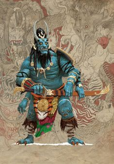 The awesome fantasy illustrations of Adrian Smith, a freelance illustrator, concept designer and comic book artist based in Edinburgh. Character Concept, Character Art, Concept Art, Dark Fantasy, Fantasy Art, Style Asiatique, Adrian Smith, Art Chinois, Samurai Art