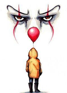 Kunst Zeichnungen - Pennywise drawing by Lera Kiryakova Fan Art t - Arte Horror, Horror Art, Inspiration Art, Art Inspo, Horror Drawing, Scary Clown Drawing, Art Du Croquis, Desenho Tattoo, Fan Art