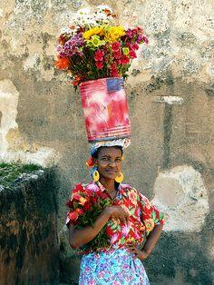 Colour flowers on the head!