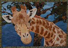 Another amazing quilt by Diane Fannan-so inspiring! African Giraffe. $800.00, via Etsy.