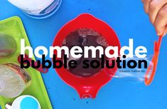 How To Make Homemade Bubble Solution