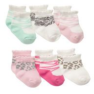 7 PAIRS OF NEWBORN SOCKS - 0-3 MONTH SIZE WOULD BE GOOD TOO FOR THE FUTURE.  DOESN'T HAVE TO BE THESE IN PARTICULAR - JUST WANT TO MAKE SURE THE SOCKS WILL ACTUALLY STAY ON.  CARTERS AND BABY GAP SOCKS SEEMS TO BE GOOD FROM WHAT I'VE READ.