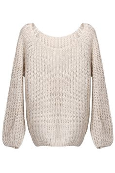 Batwing Puff Sleeve Light-apricot Jumpers $36.99