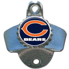 NFL Chicago Bears Wall Bottle Opener by Siskiyou. $15.99. Our Chicago Bears sturdy wall mounted bottle opener is a great addition for your deck, garage or bar to show off your team spirit.