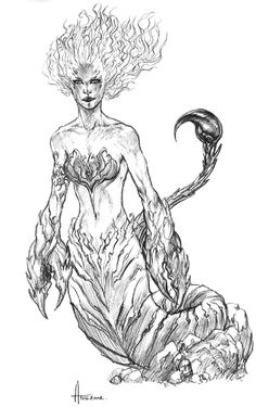 Scorpio Scorpio Star, Zodiac Scorpio, Scorpio Woman, Scorpio Facts, Woman Sketch, Creative Pictures, Scorpion, All Tattoos, Sirens