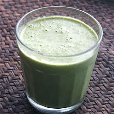 Groovy Green Smoothie Recipe | Ingredients: 1 banana, 1 cup grapes, 6 oz vanilla yogurt, 1/2 apple (cored & chopped), 1-1/2 cups spinach leaves (fresh)