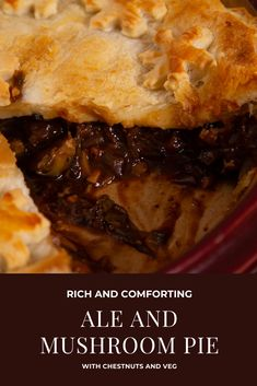 This vegan mushroom pie is filled with chestnuts and veg and spiked with a generous splosh of ale. It will warm your cockles on the darkest of winter nights and may have you breaking out in spontaneous song. Mushroom Pie, Cockles, Vegan Christmas, Meat Lovers, Cheesesteak, Separate, Plant Based, Ale, Vegan Recipes