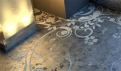 Arte nos pisos de Concreto - Arquitetando Ideias