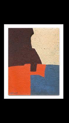 Serge Poliakoff - Composition abstraite, 1952 - Huile sur toile - 35 x 27,5 cm Slim Aarons, Roy Lichtenstein, Garden Parties, David Hockney, Jackson Pollock, Andy Warhol, Party Photos, Bold Colors, Arts