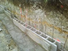 retaining wall footing rebar google search retaining wall pinterest retaining walls. Black Bedroom Furniture Sets. Home Design Ideas