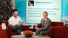 Ellen Busts Adam Levine (+playlist)
