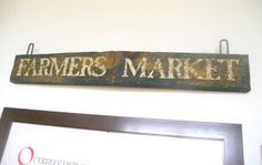 """A Heartful Home: Thrifty Treasures Monday- Part 2: Vintage """"Farmer's Market"""" Sign!"""