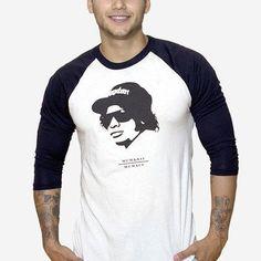 Eazy E Black and White Raglan by LAYOP on Etsy