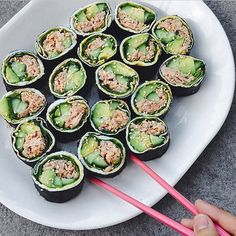 Try this easy #whole30 Tuna roll recipe using Wild Planet Tuna! For the complete recipe follow @whole30recipes!
