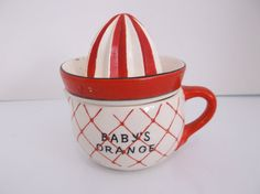 Antique Ceramic Made in Japan  Baby's Orange by BitsOfLeatherNLace, $55.00