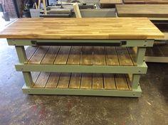 Large 2 full shelf long grain oak top butchers block kitchen island  see https://www.etsy.com/your/shops/me/dashboard?ref=seller-platform-mcnav