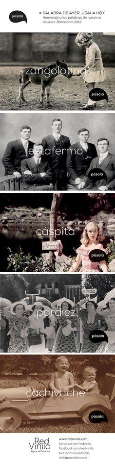 """Palabras olvidadas by Red Vinilo. - Un homenaje a """"las palabras de nuestros abuelos"""". #photography #vintage"""