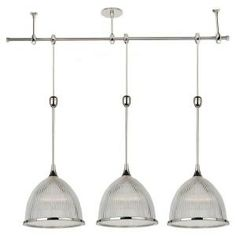 Sea Gull Lighting Ambiance Transitions 3 Light Polished Nickel Pendant Track Kit 94487
