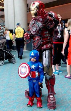 Cool Father and Son Avengers Cosplays