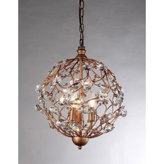 Placed in a stairwell or over your dining room table, this crystal chandelier adds floral-inspired drama to your home. The bronze-finished vines feature delicate crystals that catch and softly reflect the light.