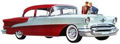Ilustraciones de autos modernos... pero de los años '50