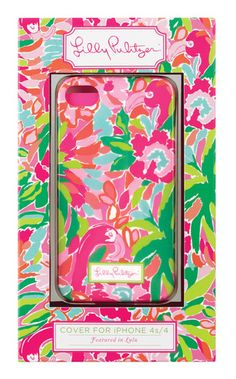 Lilly Pulitzer iPhone 4 4S Lulu Mobile Cell Phone Pink Flamingo Cover TPU Case N | eBay