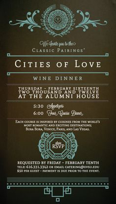 CF Catering - Event Promotion Design by Joshua Kulchar, via Behance