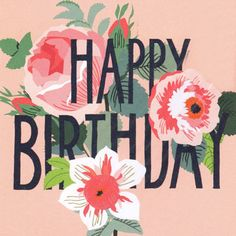 Image result for happy birthday flowers cards