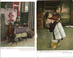 Early 1900s San Francisco Chinatown.