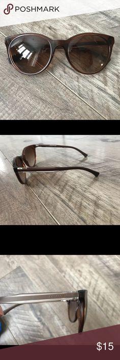 f44429a2c6 Brown Emporio Armani Sunglasses 🕶 Dark brown cat-eye sunglasses. There are  a couple