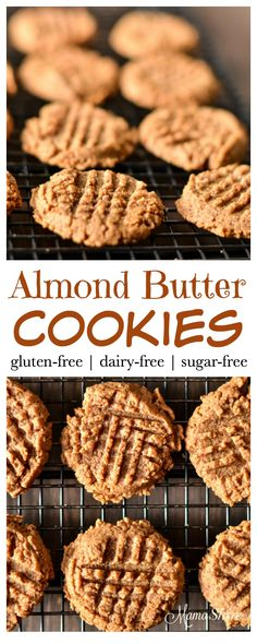 Super easy to make Almond Butter Cookies - Gluten Free, Sugar Free. Yummy, quick treat. Trim Healthy Mama - S
