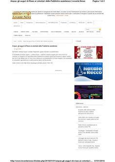 Levante News 31 dicembre - Discorso del Presidente