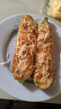 ...just simply amazed...: Zuchini boats- My own recipe!