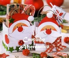 Cantinho Alternativo: Lembrancinha de Natal Feita Com Caixa de Leite