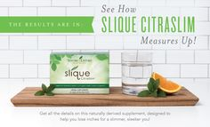 Between staying active, managing a balanced diet, and running your day-to-day, it's no surprise that you might not have time to add elaborate meal planning or two-a-day workouts to your to-do list. That's where Slique CitraSlim™ comes in!  This naturally derived supplement is designed to help you burn fat and lose inches when you incorpo...
