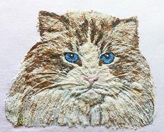 Cat t-shirt painted  Tshirt 3d Tabby Cat Tee