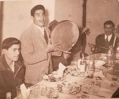 My grandfather playing the Daf for his band mates - Iran circa 1950s Check this blog!