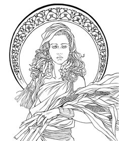 Art Nouveau - Demeter by BethanyRoot on DeviantArt