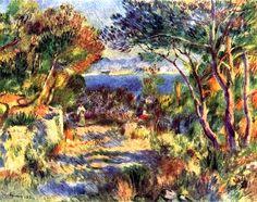 Chemin de terre près de l'Estaque par Pierre-Auguste RENOIR