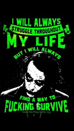 The Joker is no joke. But tbh hopefully everyone can find peace during their lifetime. No one deserves to struggle. Dark Quotes, Strong Quotes, True Quotes, Motivational Quotes, Funny Quotes, Inspirational Quotes, Qoutes, Wisdom Quotes, Best Joker Quotes