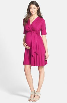 Maternal America Front Tie Maternity Dress available at #Nordstrom