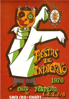 Cartel Carnaval Santa Cruz de Tenerife Año 1970