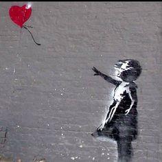 Banksy graffiti art.