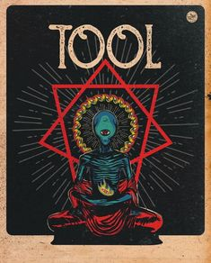 Rock Posters, Band Posters, Concert Posters, Tool Artwork, Music Artwork, Alex Gray Art, Alex Grey, Blue Ghost Rider, Tool Poster