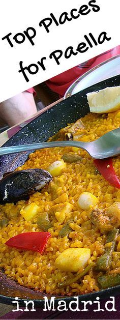 So what do you do if you want to try a truly delicious paella in Madrid? Trust the team at Madrid Food Tour to help you find one! These are our recommendations for paella restaurants in Madrid, and a little background about the dish itself. http://madridfoodtour.com/top-places-for-paella-in-madrid/