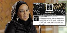 Honor Diaries star Raquel Saraswati. Inset: A threatening tweet Sarawati received from an Islamic State supporter.