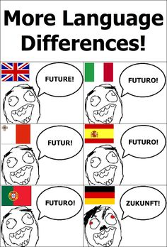 More Language Differences! Tumblr Funny, Funny Memes, Hilarious, Jokes, Words In Different Languages, Try Not To Smile, German Words, Rage Comics, Learn German