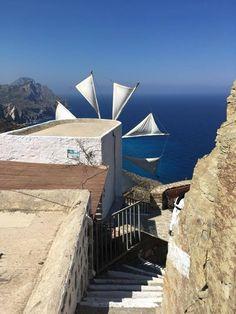 OlymbosPhoto by Lenka Chlíbková Karpathos, Windmills, Greece, Have Fun, Around The Worlds, Travel, Wind Mills, Viajes, Destinations